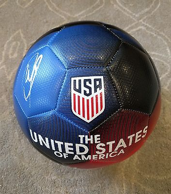 Christian Pulisic Signed 2017 USA Soccer Ball Proof Gold Cup World Dortmund ++