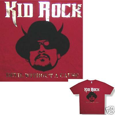 Kid Rock! Devil Without A Cause Foil Red T-Shirt S New!