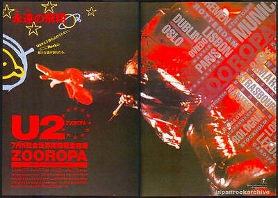 1993 U2 Zooropa 2pg JAPAN album promo press ad / print advert u8r