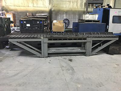 "2' X 15'6"" X 36"" Tall Steel Welding T-Slot Table Cast Iron Layout Plate Fixture"