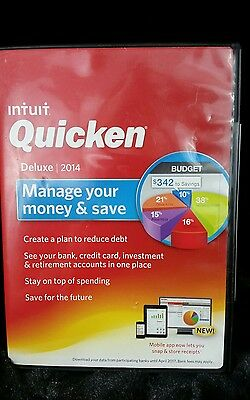 Intuit Quicken Deluxe 2014 Manage Your Money & Save Software