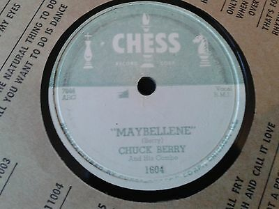 """CHUCK BERRY :  """"MAYBELLENE""""  /  WEE WEE HOURS.  US.78 rpm (1955)"""