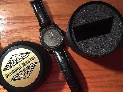 Black Genuine Diamond Master Men's Watch Rw016