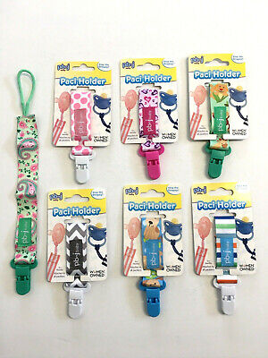 Lot PBNJ Paci Holder Fasten Strap Clip Pacifier Tether Binky Baby Infant
