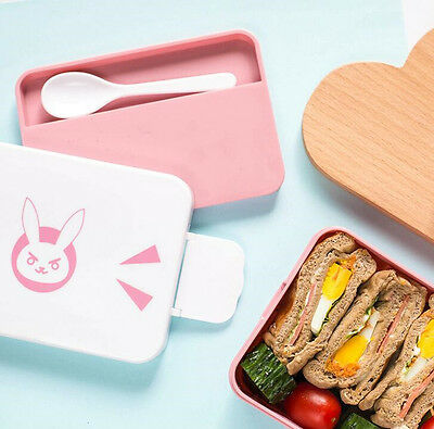 DVA Overwatch Cute Lunch Box Picnic Bento Food Microwave Use Container Storage