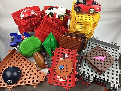 K'NEX Super Mario Kart LARGE PART LOT Racing Track And Cars Accessories KNEX