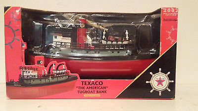"Unopened BOX Texaco ""The American Tugboat Bank"" 2002 ERTL 3rd In A Series Model"