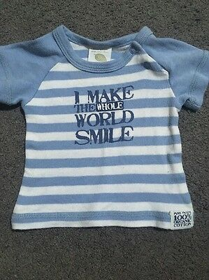 Baby Boys Pure Patch Short Sleeve Top Size Newborn GUC