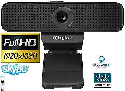 Logitech C920-C Pro HD Webcam 1080p Microphone Video Call Skype USBPC RRP £99.99