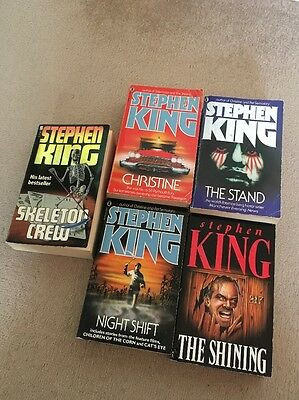 Stephen King Lot Christine The Stand Night Shift Misery Skeleton Crew 5 Books