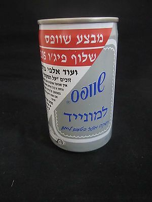 Schweppes  limonade  : a 330 ml  empty  can, israel, 1990