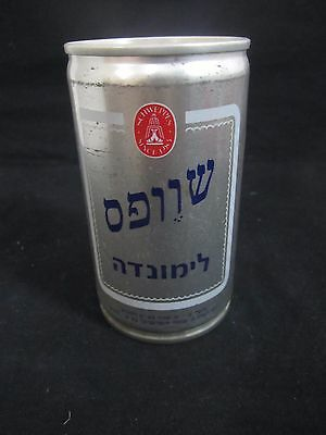 Schweppes  limonade   : a 330 ml  empty  steel  can, israel, early 80's