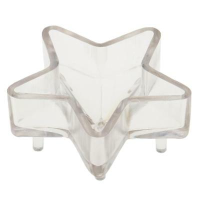 3D Star Shaped PC Plastic Clear Candle Mold for Candle Making 2.5 x 1 inch