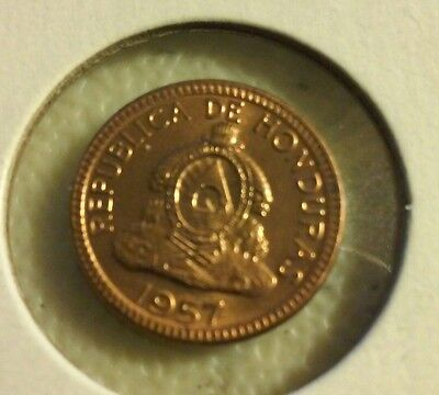 1957 Honduras 1 Centavos- Circulated - (#JU192)