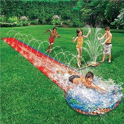 Slide Water Kids Garden Inflatable Pool Splash Outdoor Fun Toy Spray Aqua Play