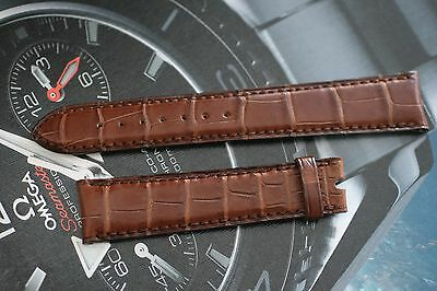 Omega Mens Watch Strap Tan Alligator 18mm Size Brand New Old Stock