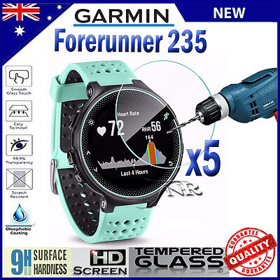5x Tempered Glass Screen Protector Film Guard For Garmin Forerunner 235