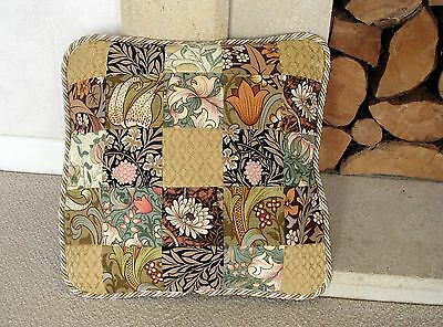 New William Morris / Sanderson Fabric Patchwork Cushion Cover / Velvet Backing