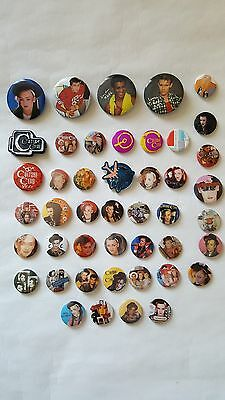 BOY GEORGE/ CULTURE CLUB Badges UK set of 45 pin button badges orig early 80's