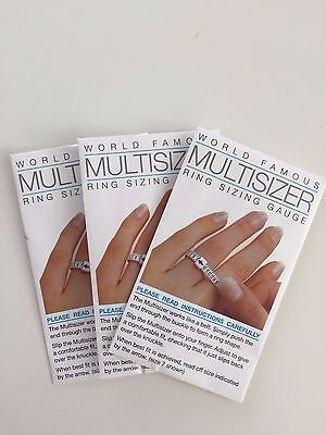 3 x Multisizer Ring Sizer US Size