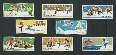 China stamps - 1966 MNH Children's Games set of 8, SG2296 - 2303, see scan.
