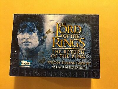 2004 The Lord Of The Rings Trilogy 60 Card Set In Factory Box By Topps Europe