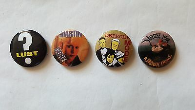 DEPECHE MODE Badges UK set of 4 pin button badges – all orig early 80's items