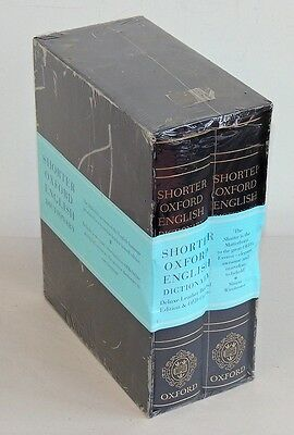 Shorter Oxford English Dictionary Deluxe Leather Bound Edition 2007 - Sealed