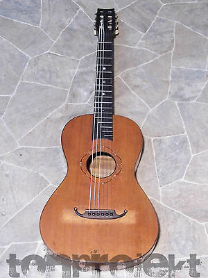 Rarity Antique Historical Kaspar TREIBER Parlor Guitar Old Guitar Mittenwald