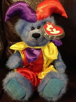 Ty Beanie Babies Attic Treasures Calliope Jester Bear 1993 Tag Excellent