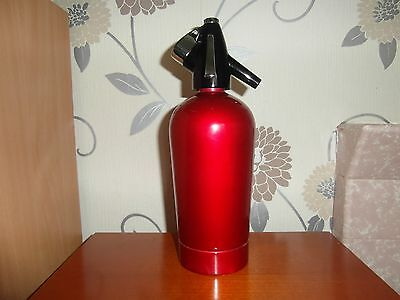 Vintage/retro 60's 70'sparklets Limited  Soda Syphon In Red And Black Top