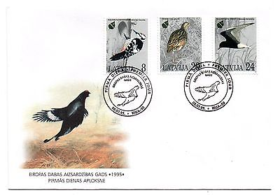 Latvia : Birds : 1995 European Nature Conservation First Day Cover  08/07/1995.