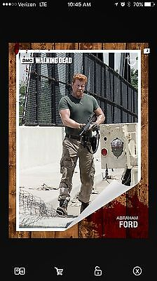 Topps The Walking Dead Card Trader Abraham Classic Insert Card