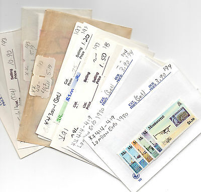 Montserrat Stamp Lot Mostly All Mint On Dealers Show Cards