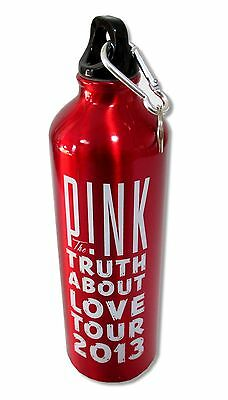 Pink P!nk The Truth About Love 2013 Tour Red Aluminum Water Bottle New Official