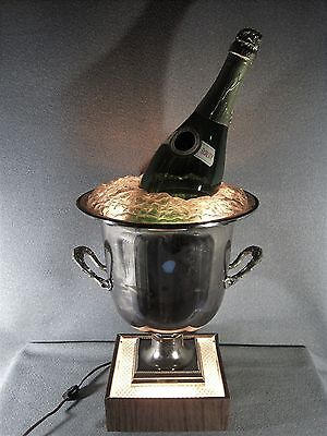 Champagne Ad Lighted Ice Bucket & Empty Bottle Bar Catering Wedding Vintage