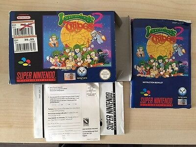Lemmings 2 - SNES Super Nintendo - PAL box and manual only / no game