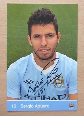 Manchester City Signed Official Club Cards 2001 - 2012 All Seasons