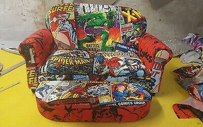 marvel comic avengers bespoke 2 seater sofa and stool duvet  kids chair any cove