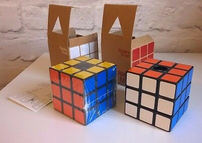 Rare And Collectible Rubiks Cube Salt And Pepper Grinders Actual Size. Mib