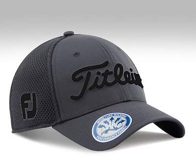 Titleist 2017 Tour Golf Cap Hat Fitted Headwear Charcoal TH7FSMK-9 Authentic