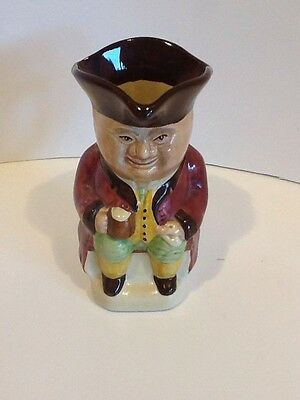Small Toby Jug No3 Wood and Sons Man Holding Beer - Vintage Collectors