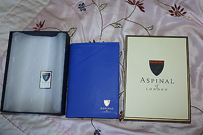 NEW Ltd Ed Aspinal of London for LFW A5 Leather Journal COBALT Blue Plain Pages
