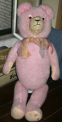 Giant Pink Thuringia Teddy Bear Old