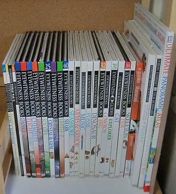 Lot 28 DK Eyewitness Reference Homeschool Science Nature History Books