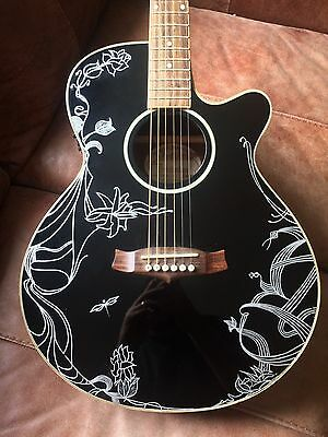 Tanglewood Evolution TSF CE BK - Hand Painted Electro Acoustic Guitar