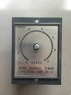 Lot of Two pcs Omron Miny Manual Timer Type STMN 2-c0401 240VAC Japan 7 hours