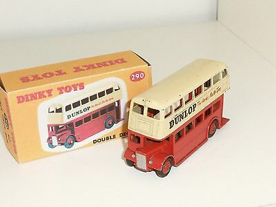 vintage dinky toys double deck bus dunlop. Black Bedroom Furniture Sets. Home Design Ideas