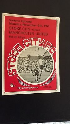 Football Programmes League Cup replay Stoke V Man United 1971/72