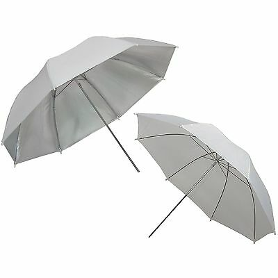 "Umbrella DynaSun 2x UR02 33"" White and Silver Studio Diffuser Diffusion Softbox"